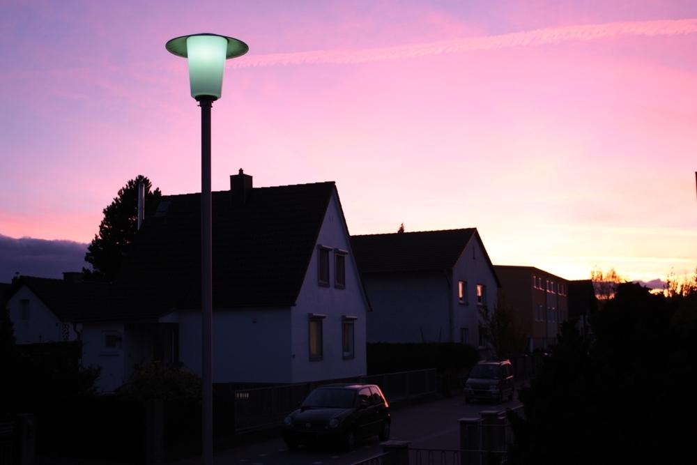 Abendrot in Dieburg